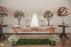 Resultado de imagem para mesa do bolo casamento ideias