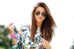 floral & raybans