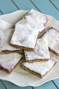 Raspberry Shortbread Dessert Bars #vegan #sugarfree #naturallysweet By Natural Sweet Recipes