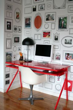 Hand drawn frames on wall   |   Via Apartment Therapy