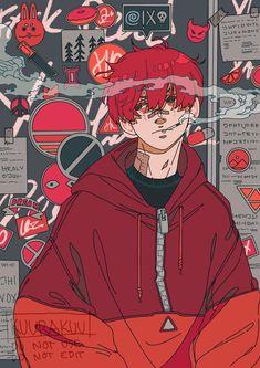 Pretty Art, Cute Art, Arte Cyberpunk, Japon Illustration, Arte Sketchbook, Cartoon Art Styles, Boy Art, Character Design Inspiration, Animes Wallpapers