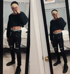 Fashion Home Inspiration yankee candle home inspiration Grunge Outfits, Punk Outfits, Fashion Outfits, Crop Top Styles, Cropped Tops, Mens Crop Top, Guys In Crop Tops, Gay Outfit, Outfits Hombre