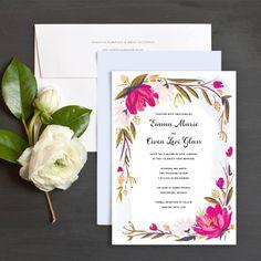 Blooming Border Wedding Invitations by Idlewild Co. | Elli