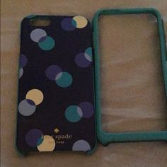 Used IPhone 6-6s phone case I've obviously used this phone case, it's a great phone case nothing is wrong with it besides few scratches it's a two piece phone case it's not broken! kate spade Accessories Phone Cases