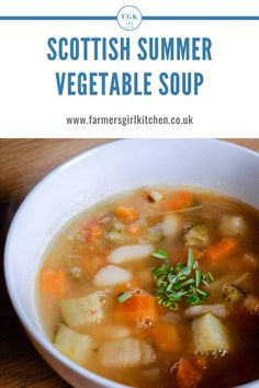 Scottish Summer Vegetable Soup is perfect for those cooler days of summer when you crave a little comfort food. It's the summer equivalent of my Scotch Broth recipe but this time packed full of summer vegetables and herbs. Scotch Broth Recipes, Soup Recipes, Kitchen Recipes, Vegetarian Recipes, Best Lunch Recipes, Dinner Recipes, Summer Recipes, Midweek Meals, Easy Meals