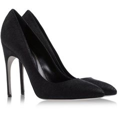 SERGIO ROSSI Closed toe (1,085 PEN) ❤ liked on Polyvore featuring shoes, pumps, heels, black, black closed toe pumps, black pumps, black heel pumps, leather shoes and spiked heel pumps