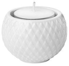 Rhombe fyrfadslysestager hvid, 2 stk. fra Lyngby Porcelæn – Køb online på Magasin.dk - Magasin Onlineshop - Køb dine varer og gaver online