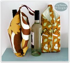 PDF Sewing Pattern Wine Bottle Carrier by LillyBlossom on Etsy, $6.00