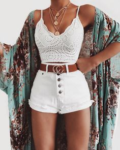 Womens Fashion Garments Appears to be like For Your Style Look Cute Summer Outfits, Cute Casual Outfits, Short Outfits, Stylish Outfits, Spring Outfits, Teen Fashion Outfits, Boho Outfits, Womens Fashion, Fashion Ideas