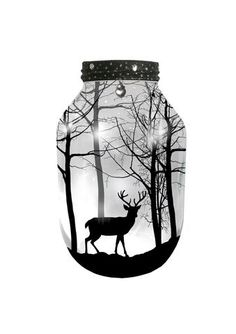 #Stag, Hand Painted X-LARGE Candle holder #Lantern