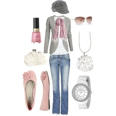 Pink & gray...so soft & pretty ... Uploaded with Pinterest Android app. Get it here: http://bit.ly/w38r4m