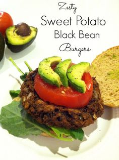 "Zesty Sweet Potato Black Bean Burgers  This recipe is the kind of stuff I look for... Easy to make and from reasonably priced food items. I love her blog too Her blog ""Hummusapien"" is full of great healthy recipes that aren't boring."