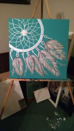 tDreamcatcher Watercolor Art Print Dreamcatcher - VividBig little Dream Catcher Painting by CrystalsEdge on Etsy Dream Catcher Painting, Love Painting, Painting & Drawing, Dream Catcher Canvas, Cool Paintings, Canvas Paintings, Diy Canvas Art, Craft Night, Painting Inspiration