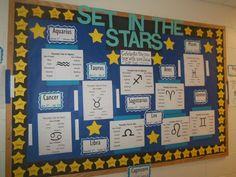 Astrology Bulletin Board Ra Programming, College Bulletin Boards, Star Pisces, Ra Door Decs, Ra Bulletins, Ra Boards, Residence Life, Resident Assistant, Res Life
