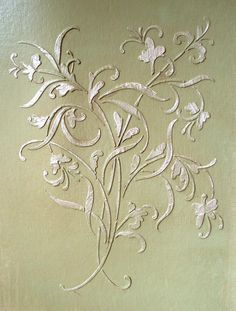 Beautiful Raised Plaster Stencils, Painting Stencils and Decorative Plaster Molds for DIY Decorating. Stencil Painting On Walls, Faux Painting, Textured Painting, Wall Stenciling, Lace Stencil, Wallpaper Stencil, Large Painting, Raw Furniture, Painted Furniture