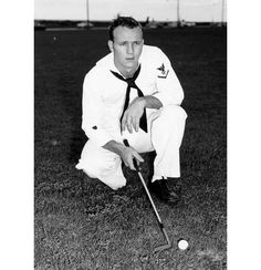 Arnold Palmer began playing golf under his father's tutelage in Latrobe, Pennsylvania, but his golf skills were cultivated while a student at then Wake Forest College. He went on to win 91 golf tournaments and named PGA Player of the Year twice. Fred Rogers, Ryder Cup, Ziggy Stardust, Tom Petty, Purple Rain, Sports Illustrated, John Lennon, Arnold Palmer Golfer, Elvis Presley