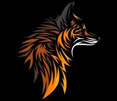 Tribal Fox, a t-shirt by albertocubatas at UmamiTees Tribal Fox, Tribal Wolf Tattoo, Arte Tribal, Fox Tattoo Men, Fox Tattoos, Tree Tattoos, Deer Tattoo, Raven Tattoo, Tattoo Ink