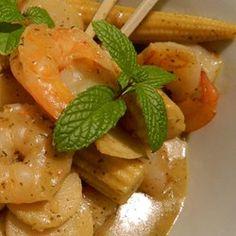 Thai green prawn curry
