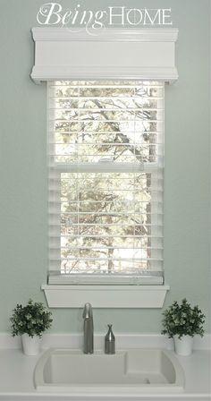 DIY Window cornice.