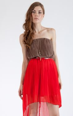 Accordion Pleated Two Tone Cocktail Dress!!! LOVING THIS TWO TONED DRESS!!! <3 :)