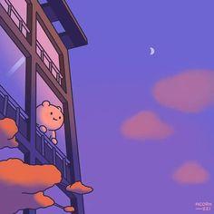 Cute Pastel Wallpaper, Bear Wallpaper, Scenery Wallpaper, Kawaii Wallpaper, Wallpaper Iphone Cute, Aesthetic Art, Aesthetic Anime, Collage Des Photos, Cute Kawaii Drawings
