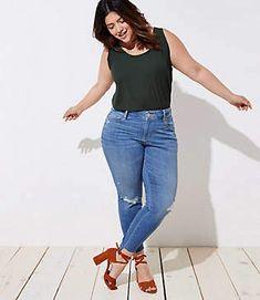 d57d90e18b2a1 Tall Pearlized Trim Flip Cuff Skinny Jeans in Staple Light Indigo Wash