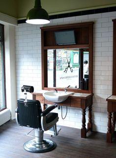 Interior Barber Design Ideas Beauty Salon Floor Plan Small Black And White Decor Retro
