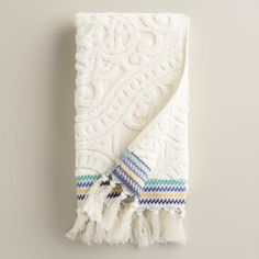 One of my favorite discoveries at WorldMarket.com: Emilia Sculpted Hand Towel