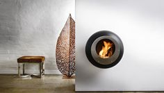 VELLUM FIREPLACE BLACK by COCOON FIRES