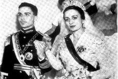 Rey Hussein de Jordania y princesa Dina
