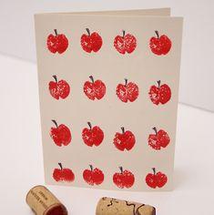 Wine Cork Stamped Apples