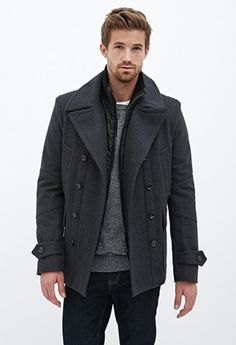 Ready to take on snowy and chilly city nights with this double-breasted wool-blend coat.  http://www.foxyblu.com/