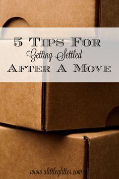 Five Tips For Getting Settled After A Move!  #DoTheMicroTwist #ad