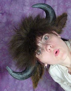 How to make bison horns, ears and hair. Easy project.