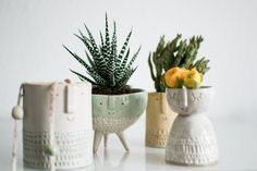 Happy Interior Blog - 3: Favorite object – More plant pots by London based ceramicist Stella Baggott.