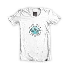 This organic white t-shirt has been designed and printed in the UK and features the middle of nowhere x find somewhere to lose yourself graphic. Inspired by the outdoors and finding somewhere to lose yourself, this design has been screen printed by hand using turquoise and grey inks. Made using 100%