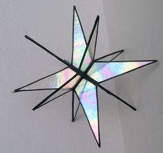 These 11 inch stars are hand crafted in the Tiffany copper-foil method. They look gorgeous raining down in a cluster, hung from a bedroom ceiling.https://www.etsy.com/shop/Suncatchercreations?ref=hdr_shop_menu