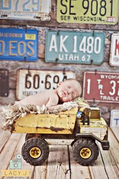 4ft x 4ft License Plate Backdrop for Photography by MyBackdropShop, $38.99