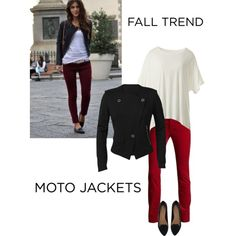 Vintage Ruby Cords, Fall '13 Edge Tee and Moto Jacket...good combination!