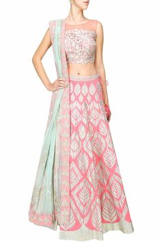 Pale pink gota patti embroidered lehenga set available only at Pernia's Pop Up Shop.