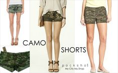 Cute Camo Shorts From Pocksho's LookBook