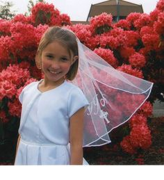 Isabella's First Communion Veil by GrandmasHouseKids on Etsy