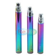 Vision Spinner Rainbow E cigarette eGo Twist Battery Variable Voltage 3.3V-4.8V eGo c Twist Battery 1100mAh 900mAh 650mAh refly