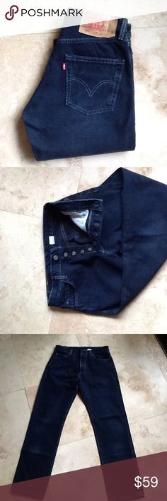 High waisted mom jeans Levi's 501 High waisted mom jeans..  Waist measures 29.. Inseam is 32... Rise is 11. Button fly front..dark indigo wash..EUC Levi's Jeans Boyfriend