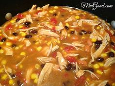 Super easy Chicken Taco Soup recipe ~ made this tonight and super delicious!!! Will make again for sure!