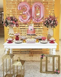 New Birthday Party Ideas For Adults Women Simple Ideas - Birthday Birthday Birthday - Aniversario Rustic Birthday Parties, 30th Birthday Decorations, 30th Party, Adult Birthday Party, Birthday Woman, Birthday Party Themes, Women Birthday, Cake Birthday, Birthday Cake Ideas For Adults Women