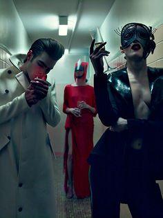 "Steven Klein. ""RIE"". 2010. (Rie Rasmussen, Jon Kortajarena & Dafne Cejas, Vogue Italia Couture)."