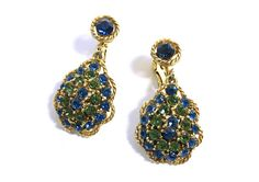 See new listings daily - follow us for updates.  Coro #Blue and #Green Rhinestone Clip On Earrings, #Vintage Coro, Blue and Green Gold Tone Rhinestone Dangle and Drop Earrings, Coro Earrings, Faceted Rhinestones, Rhinestone ... #vintage #jewelry #teamlove #etsyretwt #bestofetsy #mimisjewelryboutique #coro #blue #green #dangle #1960s #faceted ➡️ http://jto.li/NNWXV