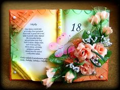 Kniha Old Books, Altered Books, Book Art, Diy Crafts, Flowers, Gifts, Crafting, Antique Books, Make Your Own