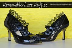 Removable lace ruffles